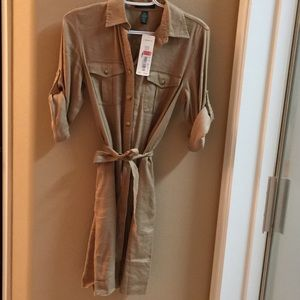NWT Lauren by Ralph Lauren tan dress